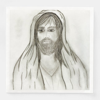 A Robed Jesus Disposable Napkin