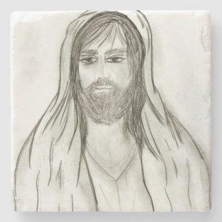 A Robed Jesus Stone Coaster