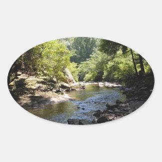 A Rocky Creek Oval Sticker