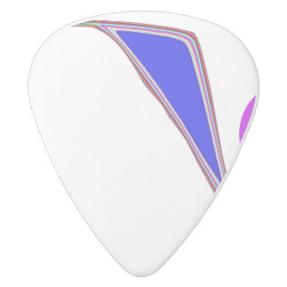 A Roller Coaster White Delrin Guitar Pick