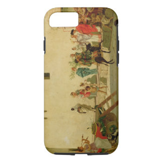 A Roman Street Scene with Musicians and a Performi iPhone 7 Case