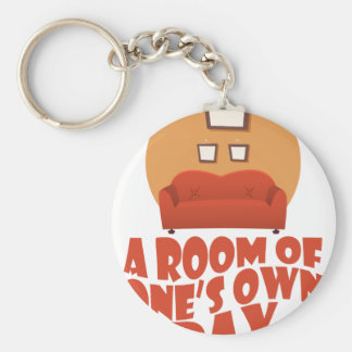 A Room Of One's Own Day - Appreciation Day Keychain