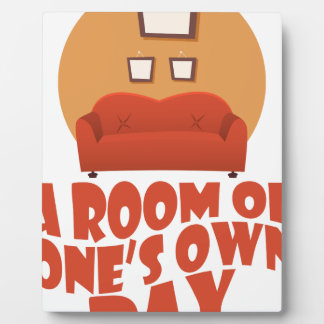 A Room Of One's Own Day - Appreciation Day Plaque