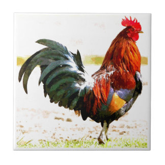 A Rooster Tile