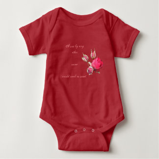 A rose baby outfit baby bodysuit