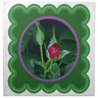 A rose bud for you my love Flower Floral 100 gifts Printed Napkin