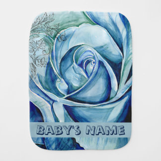 A Rose Burp Cloth