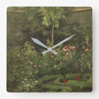 A Rose Garden Square Wall Clock