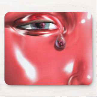 A Rose In A Single Tear Mouse Pad
