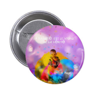 A rose lodges a child in spring 2 inch round button