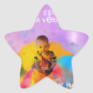A rose lodges a child in spring star sticker