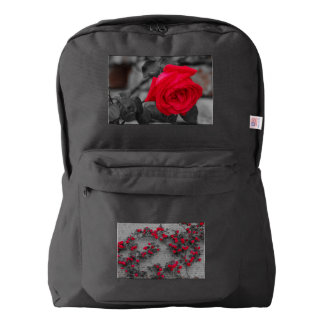A  rose wetted on American Apparel™ Backpack, Backpack