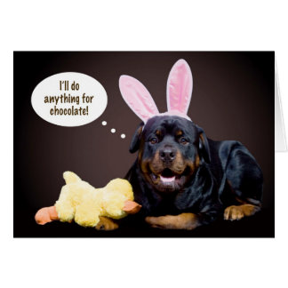 A Rottie Easter Wish Card