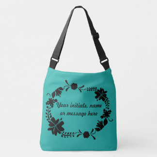 A Round of Flowers Crossbody Bag