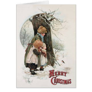 A Round Robin - Vintage Christmas by H M Bennett Card