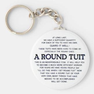A Round Tuit Basic Round Button Keychain