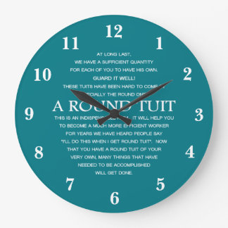 A Round Tuit Large Clock