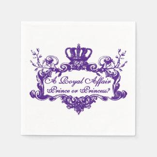 A Royal Affair Gender Reveal Napkins Disposable Napkins