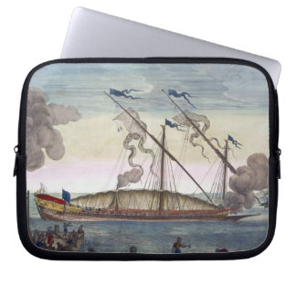 A Royal Galley (Spanish or Portuguese) rowed by sl Laptop Sleeves