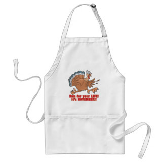 a run for life funny turkey standard apron