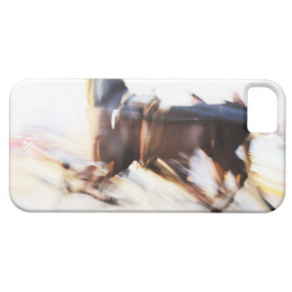 A running horse at a high speed is competing in case for the iPhone 5