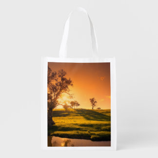 A rural Adelaide Hills landscape Reusable Grocery Bags