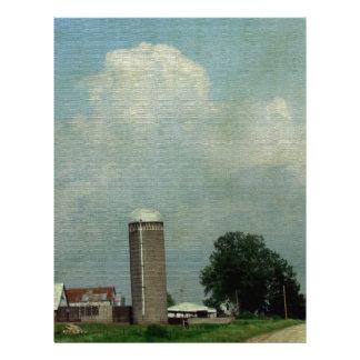 A Rural Farm Scene Letterhead