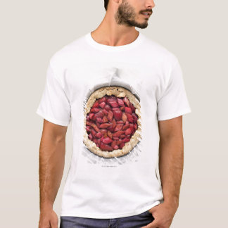 A rustic, homemade tart filled with fresh T-Shirt