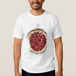 A rustic, homemade tart filled with fresh tee shirt