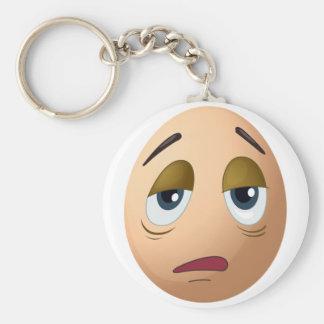 A sad egg keychain