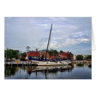 A Sailboat in Annapolis Harbor Card