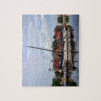 A Sailboat in Annapolis Harbor Jigsaw Puzzle