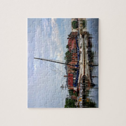 A Sailboat in Annapolis Harbour Jigsaw Puzzle