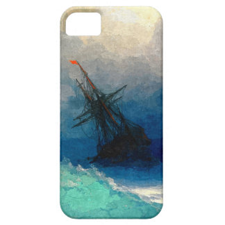 A sailing ship in a storm iPhone 5 covers