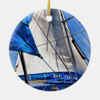 A Sailor Is An Artist And His Medium The Wind Round Ceramic Ornament