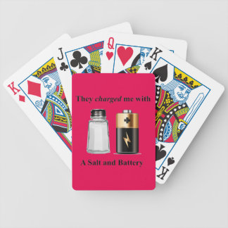 A Salt and Battery Assault and Battery Bicycle Playing Cards