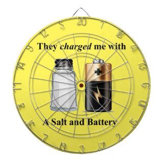 A Salt and Battery Assault and Battery Dartboard