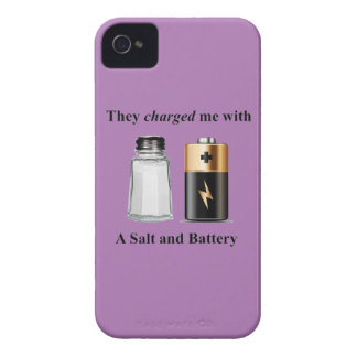 A Salt and Battery Assault and Battery iPhone 4 Case-Mate Case