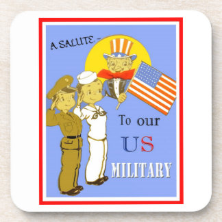 A Salute To Our US Military Cork Coaster
