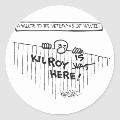 A Salute to Veterans of WWII (Kilroy) Sticker