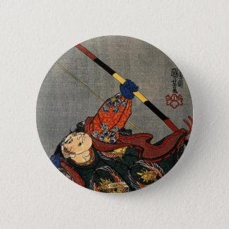A Samurai Archer 2 Inch Round Button