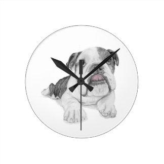 A Sassy Bulldog Puppy Clocks