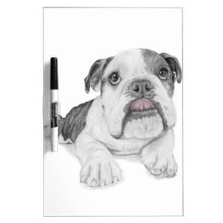 A Sassy Bulldog Puppy Dry Erase White Board