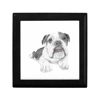 A Sassy Bulldog Puppy Keepsake Boxes