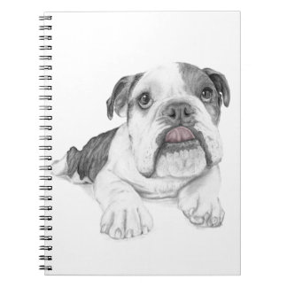 A Sassy Bulldog Puppy Notebook