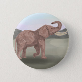 A savannah elephant 2 inch round button