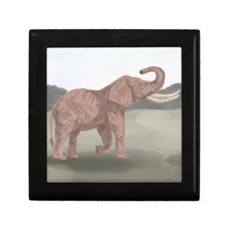 A savannah elephant keepsake box