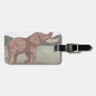 A savannah elephant luggage tag