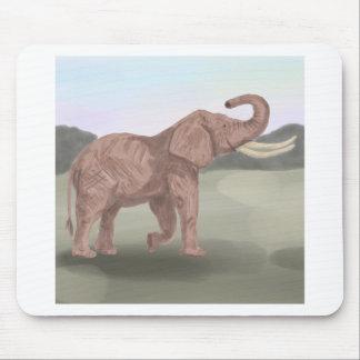 A savannah elephant mouse pad