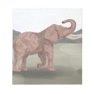 A savannah elephant notepad